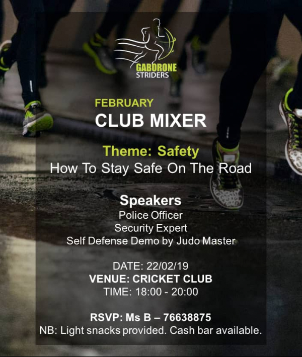 February Club Mixer: Safety - How to stay safe on the road